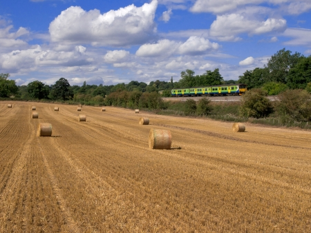 train in countryside photo