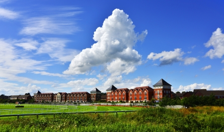 racecourse new housing and flats stratford upon avon warwickshire england uk