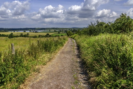 a footpath and public bridleway through the countryside
