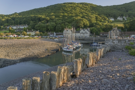 porlock weir on the north somerset coast england, uk Stock Photo - 17333041