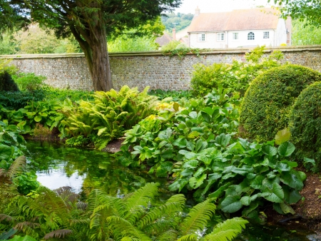 west dean gardens and estate, west sussex, sussex, england uk. Stock Photo