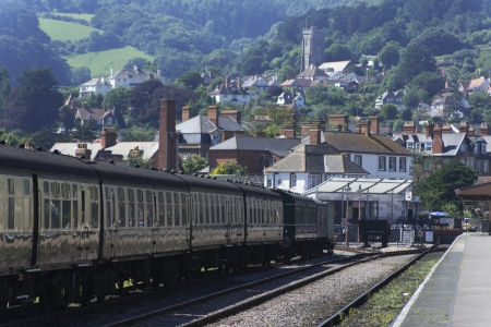 The West Somerset Railway, Minehead Station Somerset in England