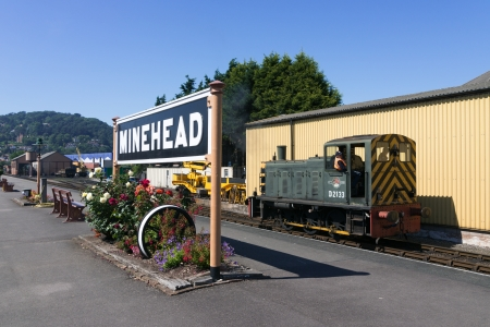 The West Somerset Railway, Minehead Station Somerset in England Stock Photo - 17091843