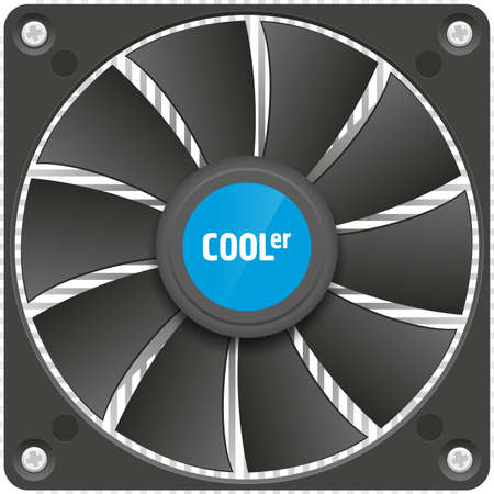 pc: Realistic image of PC CPU cooler