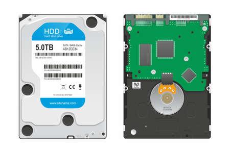 hard disk drive: Realistic image of PC hard disk drive Illustration