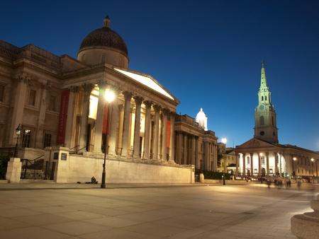 trafalgar: Trafalgar Square by night, London