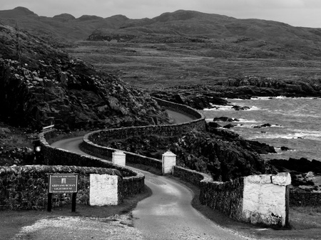 Entrance to Ardnamurchan lighthouse, Scotland Stock fotó