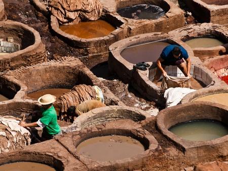 fez: Chouwara curtidur�a, medina de Fez, Marruecos