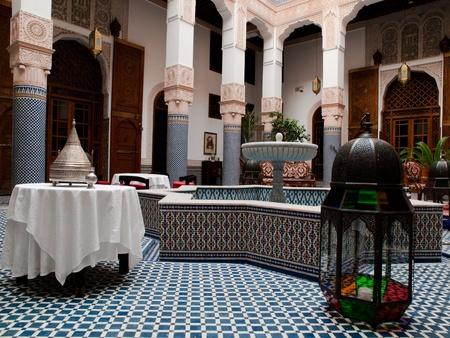 fez: Patio de Riad, Fez, Marruecos