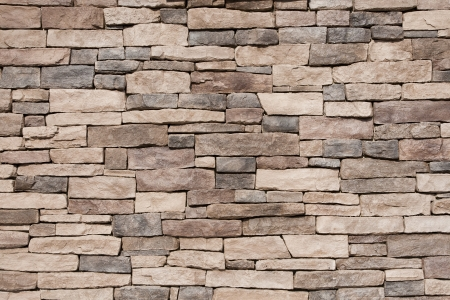 Texture of a Brown Stone Wall Stock Photo - 18380542