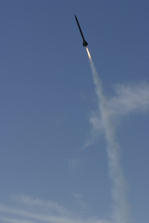 Launch of an AP Composite Rocket Stock Photo