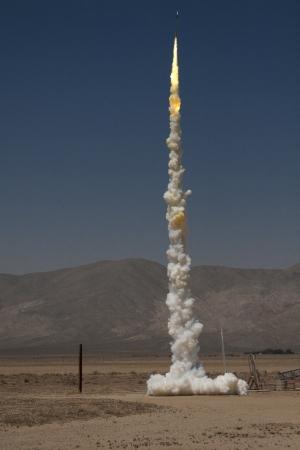Launch of a Zinc-Sulfur Rocket