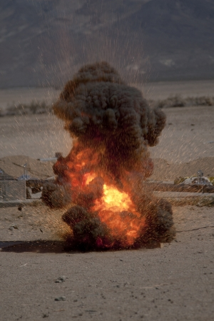 A Small Thermite Explosion in the Desert