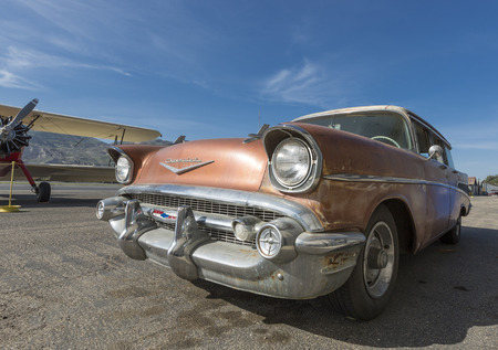 An Old Chevrolet at the Santa Paula Wings and Wheels day on May 4th, 2014