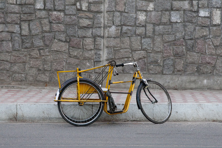 Abandoned Bicycle along the side of the road