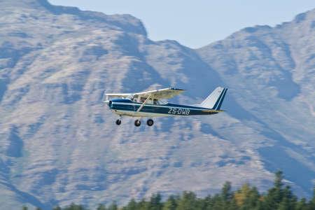 cessna: Stellenbosch Airfield, South Afirca - August 02, 2009: A departing Cessna 172.