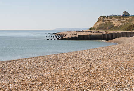 hastings: Glyne Gap, near Hastings, East Sussex on a bright spring day  Stock Photo