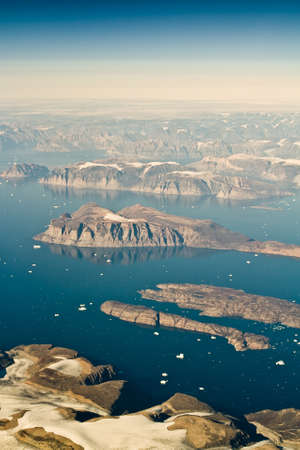 inhospitable: An aerial view of Greenland