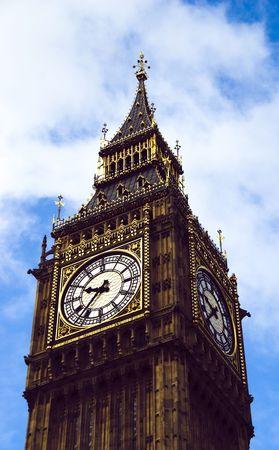 Big Ben against the cloud photo
