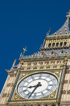 bens: Close up of Big Bens clockface, London