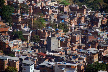 slum: Rocinha favela, Rio de Janeiro, Brazil Stock Photo