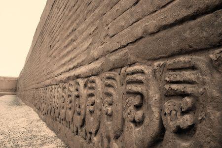 chan: Carvings at Chan Chan, Peru
