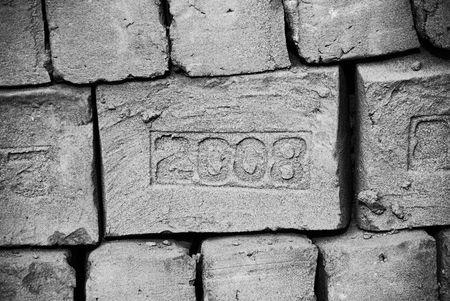 chan: 2008 Stamped bricks at Chan Chan, Peru Stock Photo