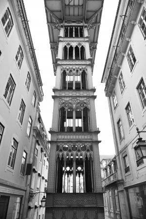 justa: The Santa Justa elevator, Lisbon, Portugal
