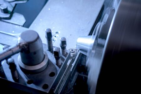 Milling mechanical turning metal working process metal parts.-image