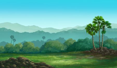 firmament: Illustration of an outdoor