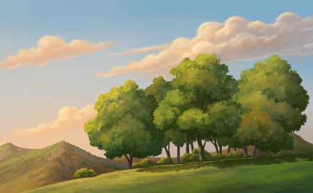 gloaming: Illustration of an outdoor