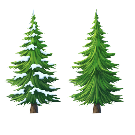 cartoon trees: tree for cartoon isolated on white background
