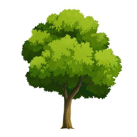 tree bark: tree for cartoon isolated on white background