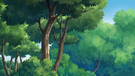 gloaming: Illustration of an outdoor in the jungle and natural