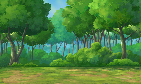 gloaming: Picture painted in deep forest