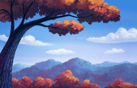 illustration beautiful of Autumn color change