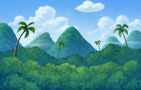 firmament: The island has an area of forest and mountain