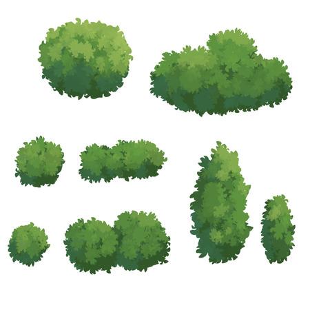 漫画は、白い背景で隔離のツリー 写真素材