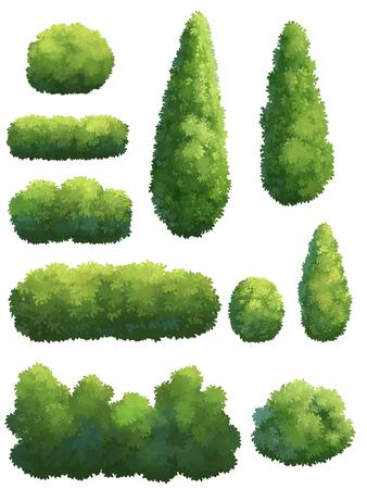 Baum für Karikatur auf weißem Hintergrund Standard-Bild - 77984762