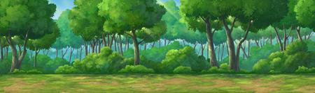 昼間で深い森に描かれた絵