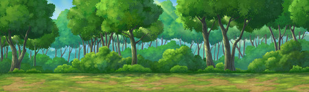 Picture painted in deep forest at daytime