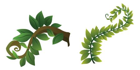 Illustration of shrub for cartoon isolated on white background.