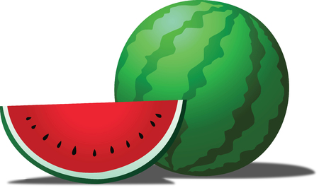Watermelon is a tropical fruit, sweet and eaten fresh.