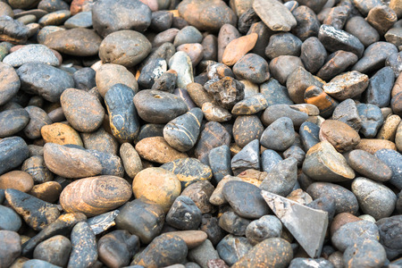 Illustration of a small rock on the ground. Stock Photo