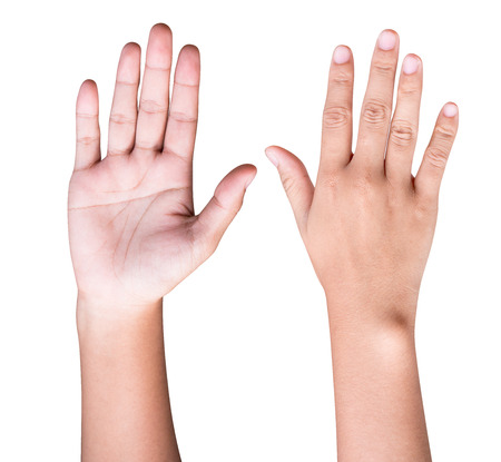 The hands look upside down and look natural.