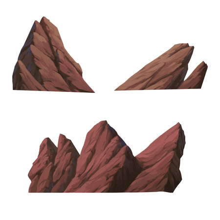 illustration of stone isolated on white background. Stock Photo