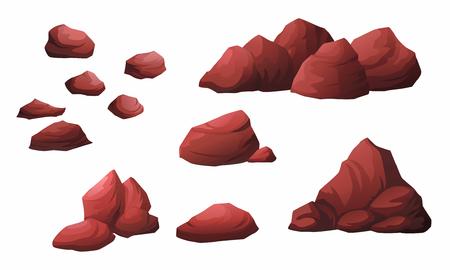 Illustration of black stone isolated from white background. Ilustrace