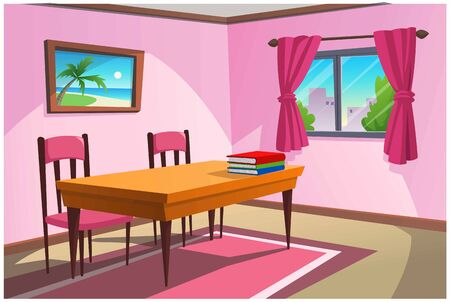 The pink room is suitable for reading in the house.