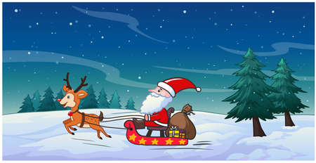 Santa is going to hand out Christmas presents. Ilustrace
