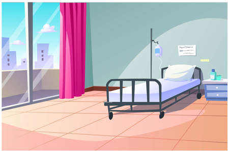 Single patient rooms are not combined with other people's rooms. Ilustrace